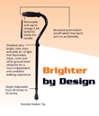 New stability cane has built-in light