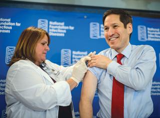 CDC Director Tom Frieden, M.D., received his flu shot in mid-September.
