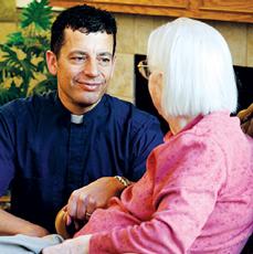Alex Treitler, organization director for spiritual care at AugustanaCare