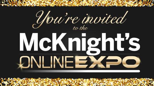 McKnight's Online Expo invitation 2019