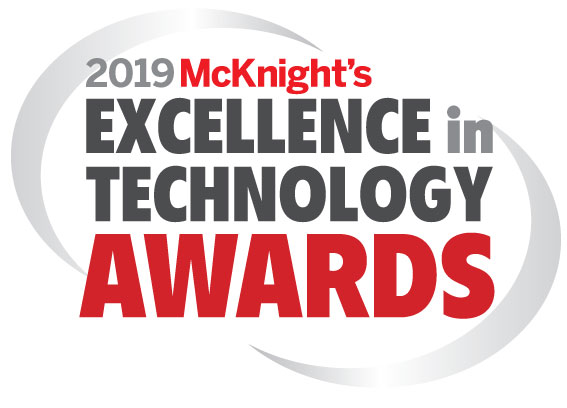 2019 McKnight's Excellence in Technology awards logo