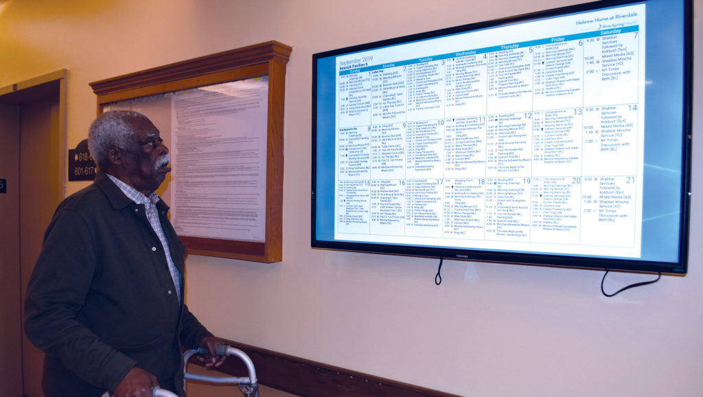 The Hebrew Home at Riverdale takes Tech Gold with upgrade to activity calendars