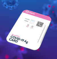 Image of the BinaxNOW COVID-19 Ag Card