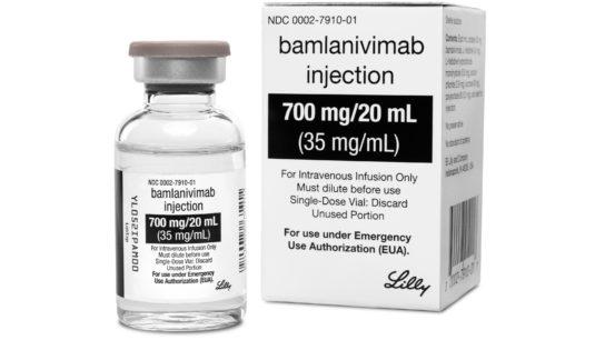 Image of the monoclonal antibody drug bamlanivimab