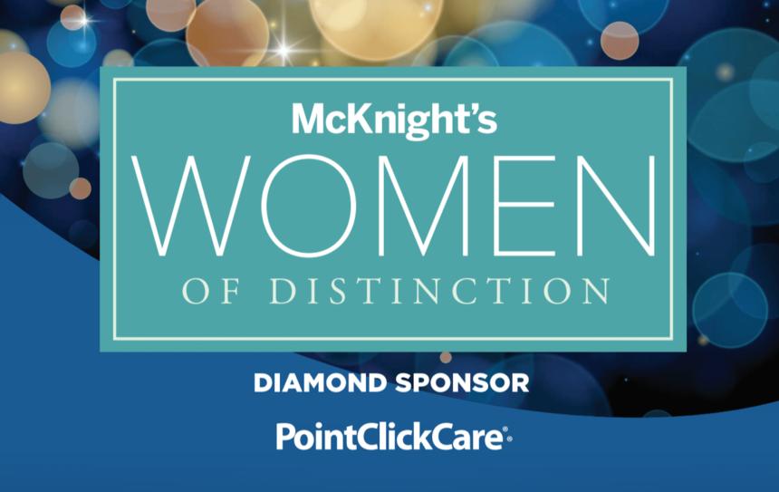 McKnight's Women of Distinction 2021 logo