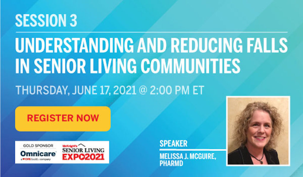 Learn more about falls prevention at the McKnight's Senior Living Online Expo on June 17